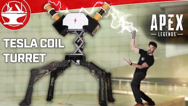 厉害了!牛人打造特斯拉线圈炮塔