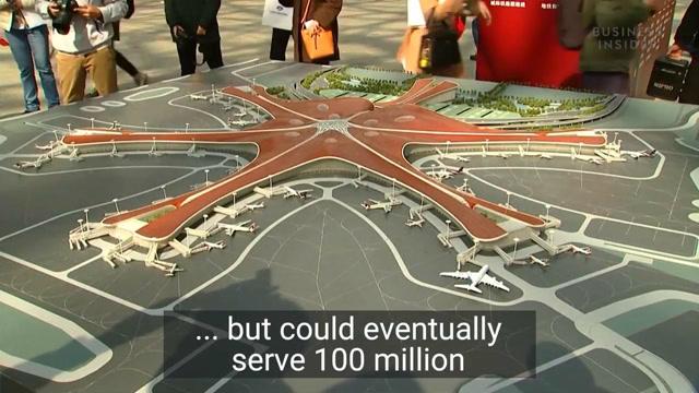 北京正在建造世界最大机场,年客流吞吐量1亿人次