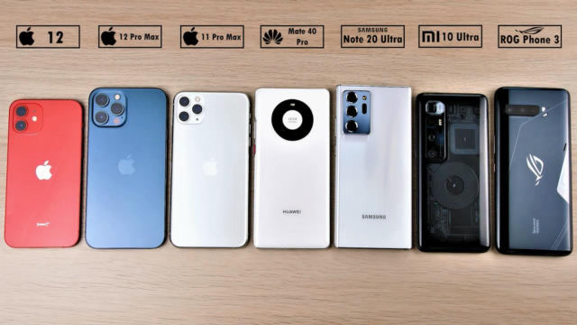 iPhone12大战小米、华为旗舰机,谁电池最耐用?