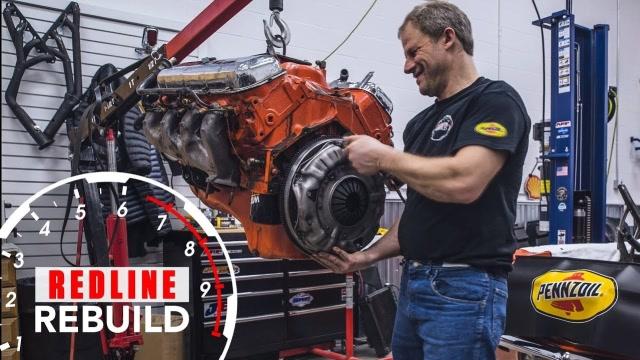雪佛兰396大缸体V8引擎翻新延时摄影