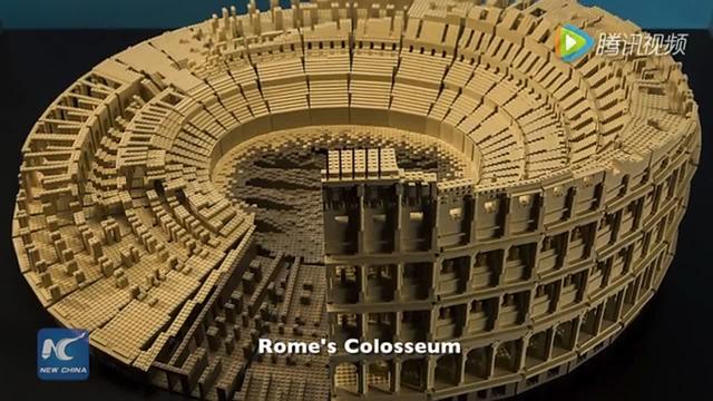乐高大师拼出世界著名建筑 逼真壮观