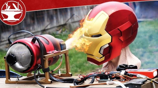 噴氣發動機vs鋼鐵俠頭盔,結果會發生什么?