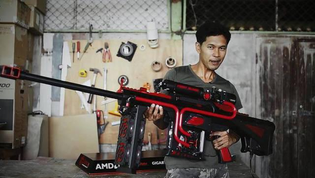 大神将电脑改造成巨型狙击步枪:这效果给跪了