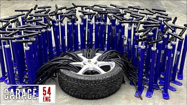 100个打气筒同时给汽车轮胎打气,结果会发生什么?