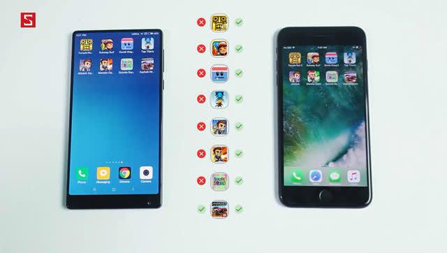 小米惨败:小米Mix与iPhone7 Plus运行速度对比