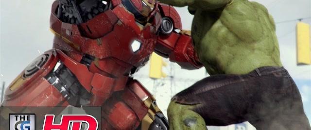 顶级3D动画:钢铁侠大战绿巨人