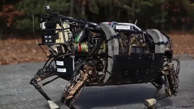 美帝的军事机器人,说真的我已经吓尿了