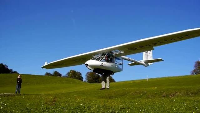 這架飛機真有創意 起降全憑兩條腿