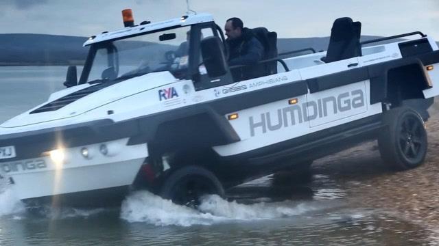 車船一體化!吉布斯水陸兩棲四輪越野車