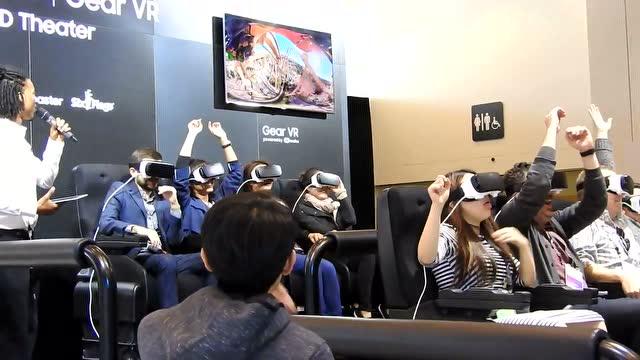 三星展示用VR体验过山车:妹子们被吓得尖叫