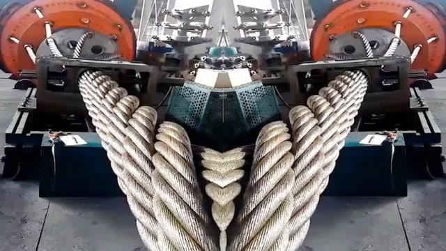 钢丝绳的机械化制造过程,这技术让人叹服