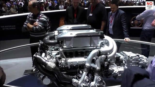 9000万布加迪发动机有多大,自己来看