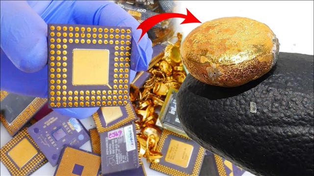 """強大的""""煉金術""""!大神用CPU制作24K純金"""