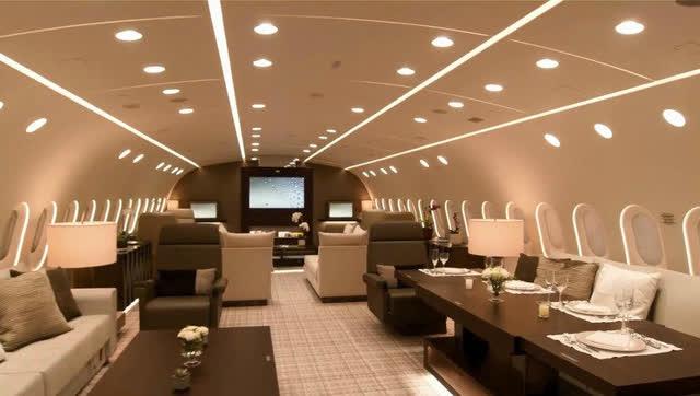 价值21亿元 世界最豪华飞机长这样