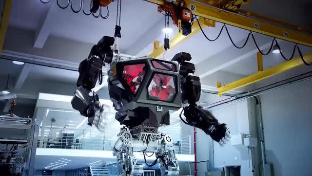 阿凡达电影的载人机器人在韩国进行测试,高达大战要来了