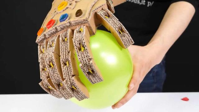 用纸板纯手工制作灭霸无限手套