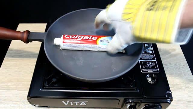 把牙膏放進熱鍋里會發生什么