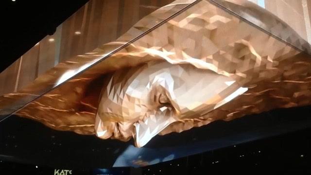 很酷的3D天花板,有种游戏里终极Boss的感觉