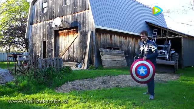 牛人COS美国队长:这磁力盾牌碉堡了