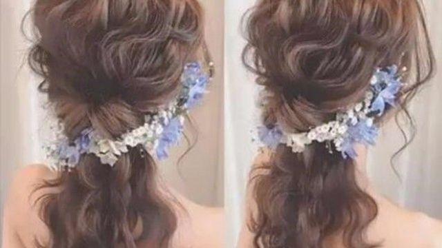 森系新娘发型,凌乱的感觉,美美哒