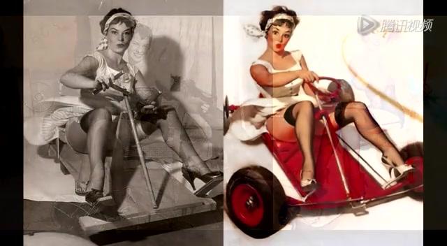 美国海报中美女模特原型照片首曝光