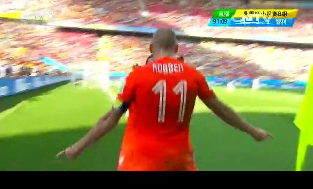 【荷兰集锦】荷兰2-0智利 罗本助攻两替补进球截图