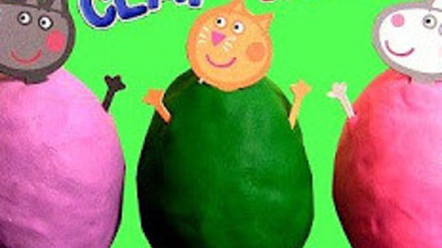 小花蛋蛋玩具012配齐小猪橡皮泥纸模玩具惊喜蛋