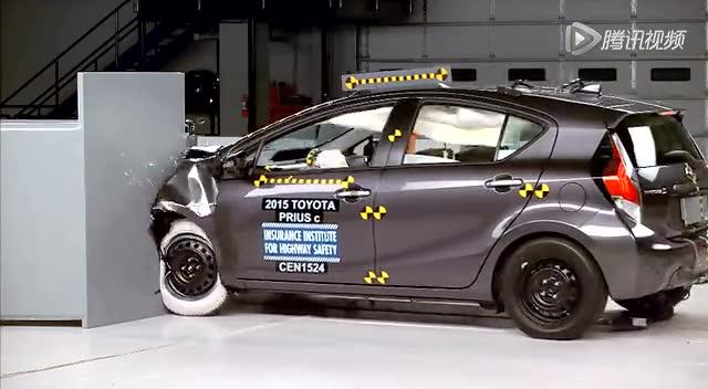 看安全与否!2015款丰田普锐斯IIHS碰撞测试截图