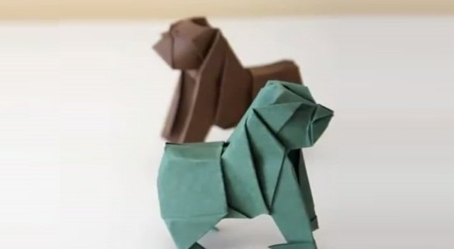 diy折纸-折一只大猩猩