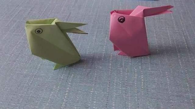 折纸兔子 可爱的小兔子手工折纸