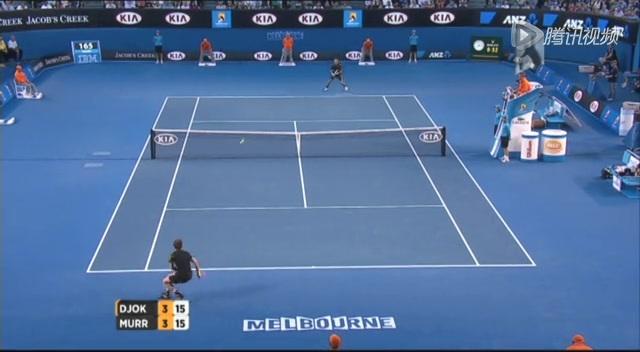 澳网第14比赛日 小德鱼跃救球全场掌声雷动截图
