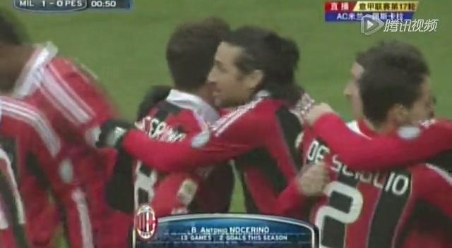 进球视频:佩斯卡拉献大礼 诺切里诺闪击破门