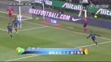 进球视频:国米任意球配合 瓜林后点抽射破网