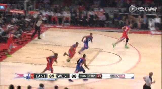 视频:2013全明星 保罗街球杂耍式突破打3分