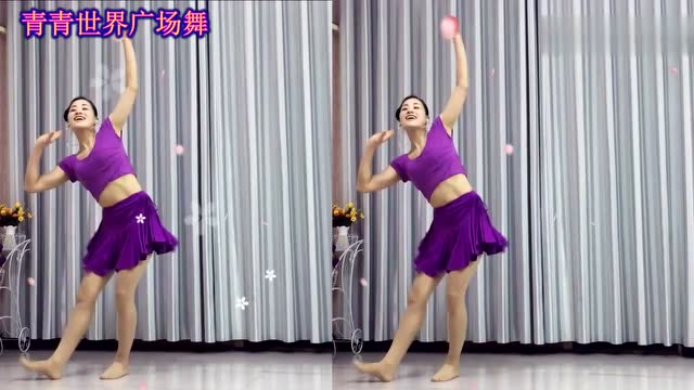俏皮可爱美女跳广场舞 越看越喜欢