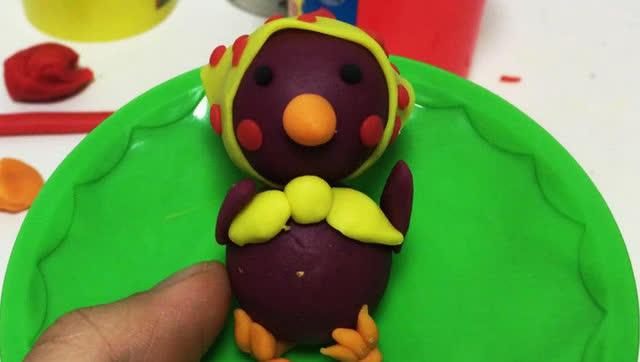 玩具视频 橡皮泥手工制作小鸡仔 亲子游戏