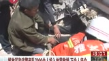 实拍消防官兵从地震倒塌楼板间救出婴儿