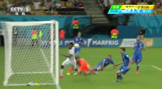 全场集锦:英格兰1-2意大利 巴神头槌锁胜局截图