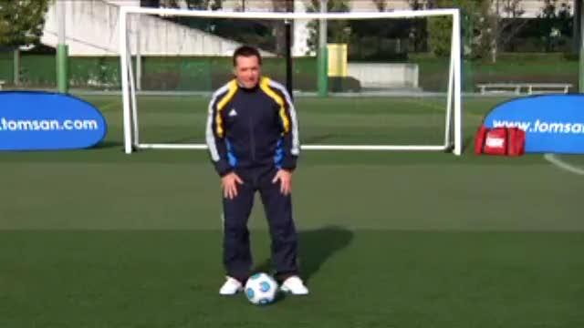 汤姆-拜尔足球训练之左右脚脚背踢球练习