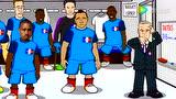 动画恶搞欧洲杯第15比赛日 格列兹曼化身超人
