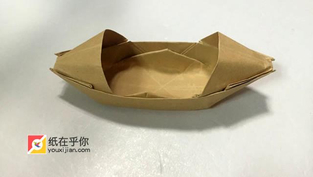 儿童折纸:乌篷船折纸