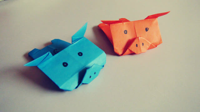 小爱的折纸 可爱的小猪