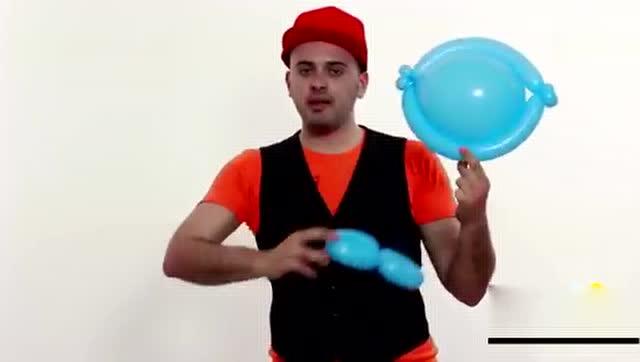 小也魔术气球教程:金鱼造型!