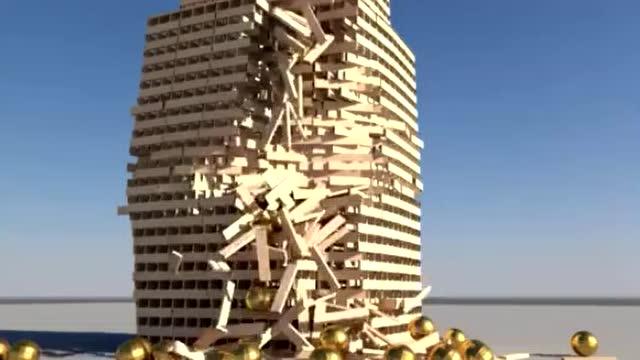 超过5000块积木搭成的建筑