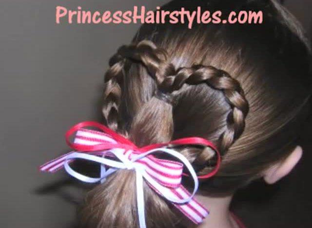 爱心马尾编织发型教程图片