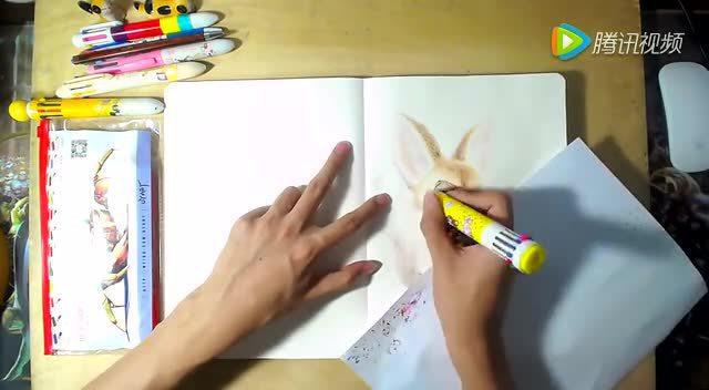 oy手绘一天一画14:疯狂动物城芬尼克