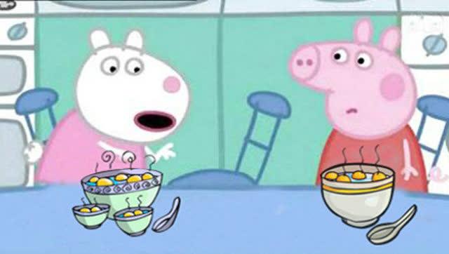 小猪佩奇过元宵节 粉红小猪妹喜欢吃汤圆