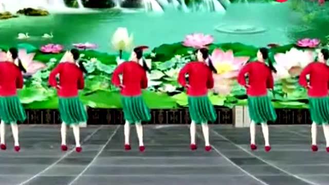 广场舞《往事只能回味》,集体广场舞,简单好看