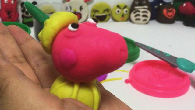 玩具视频 橡皮泥手工制作万圣节派对之小羊苏西