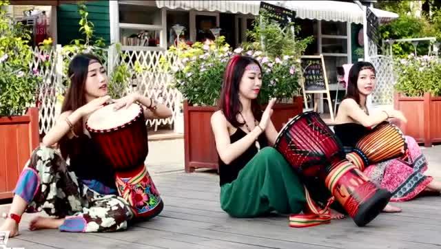 丽江小宝贝手鼓伴奏